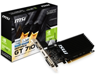 MSI nVidia GeForce GT 710 1GB 64bit GT 710 1GD3H LP
